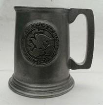 Vintage Wilton Armetale Pewter Mug Stein Seal of the State of Illinois 1818 - $9.89