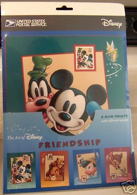 ART OF DISNEY FRIENDSHIP '05 #4 PRINTS w 37 CENT STAMPS