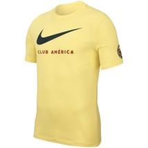 NIKE CLUB AMERICA AGUILAS LARGE SWOOSH T-SHIRT Lemon Chiffon. - $33.00