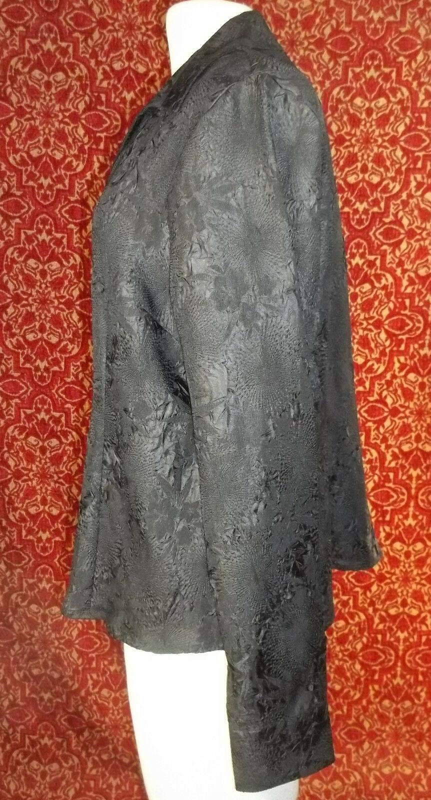 KORET black wrinkle polyester long sleeve blouse 16 (T45-03G8G) image 4