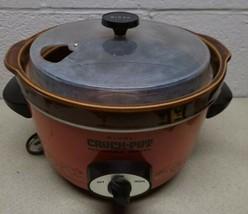 Vintage Retro Rival 3350 Crock Pot Slow Cooker Orange. Tested & Working. - $42.46