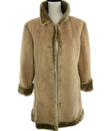 HSE CORP. Women's Overcoat Jacket 100% Polyester Suede Fur Lining Accent... - $16.86