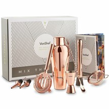 VonShef Set Of Shaker Parisian Premium Of Copper IN Box Gift New - $302.93