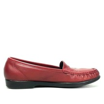 SAS Tripad Comfort Wink Womens Red Leather Moc Toe Loafers Size 9M - $24.99