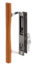 Prime-Line Sliding Glass Door Handle Lock Set Keyed Wood Steel Reversibl... - $27.16