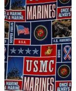 Marines Fleece Fabric Anti Pill One Yard Hundred Percent Polyester  No S... - $16.98