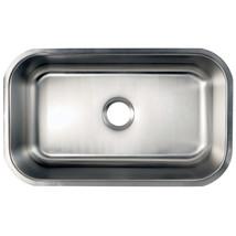 Gourmetier Loft GKUS3018 Undermount Single Bowl Kitchen Sink, Satin Nickel - $163.62