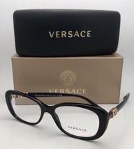 New VERSACE Eyeglasses MOD. 3234-B GB1 53-16 140 Black & Gold Frame w/ Crystals