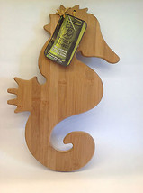 "Totally Bamboo Seahorse Cutting And Serving Board 16"" With Original Tag - $29.99"