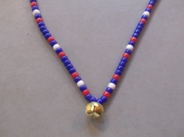THE GENERAL ~ HORSE RHYTHM BEADS ~ RED, WHITE, BLUE ~ HORSE SIZE / 54 IN... - $17.00