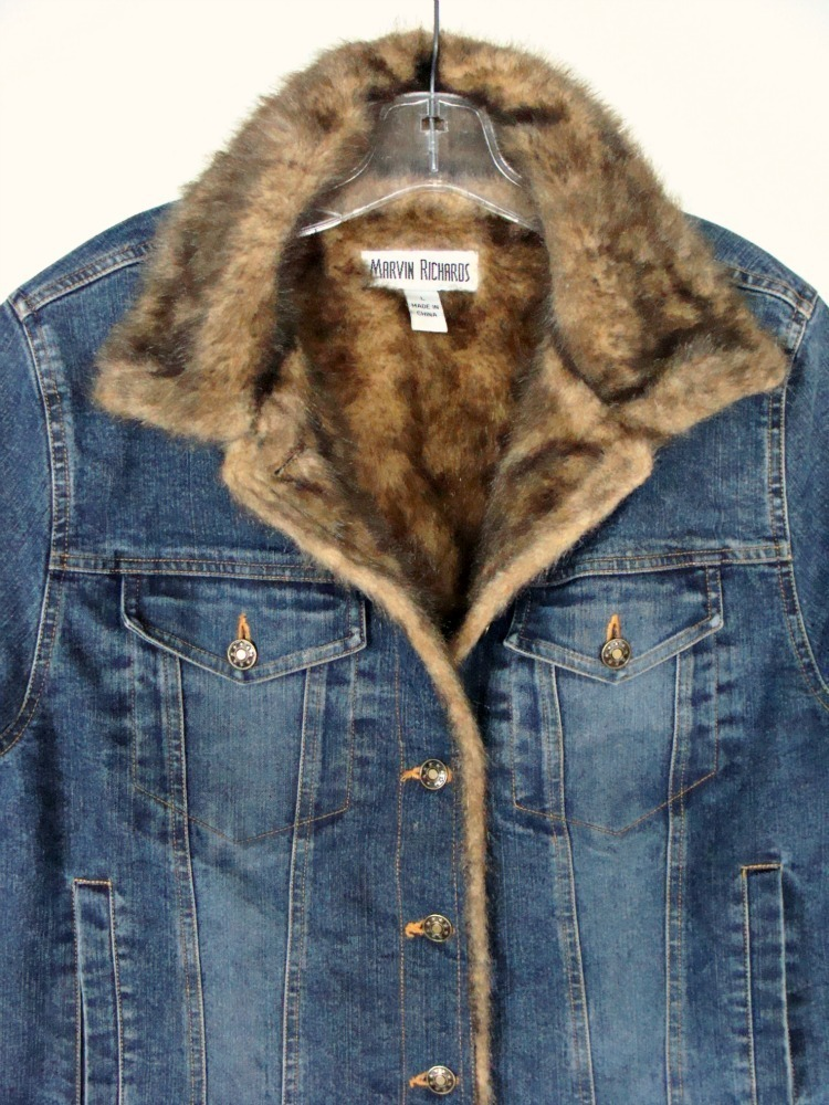 Women's Oversized Thick Warm Sherpa Fur Lined Denim Trucker Jacket Boyfriend Jean Coat. from $ 42 98 Prime. out of 5 stars 5. Zicac. Men's Fleeced Denim Jacket Winter Fall Warm Cowboy Coat Outerwear Parka. from $ 49 69 Prime. out of 5 stars HOW'ON.