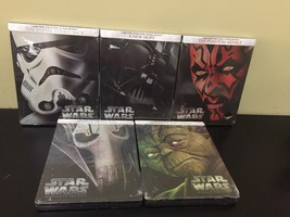 Star Wars Bluray Steelbook Episodes I-V Phantom Menace Attack Of The Clones - $128.69
