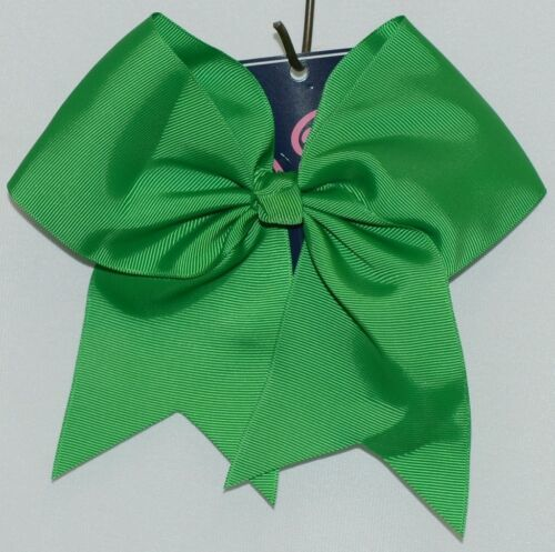 WB M5000GRN Polyester Grosgrain Ribbon Hair Bow Alligator Clip Green
