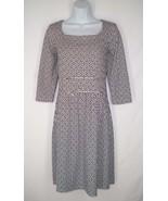 "J. McLaughlin S bust 36"" Catalina Cloth Dress Greek Geometric Black Whit... - $35.99"