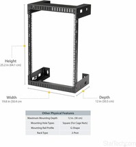 "StarTech 15U Wallmount Server Rack- Equipment rack 12""D RK15WALLO - $110.00"