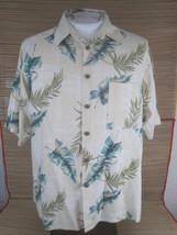 Caribbean Dillard Men Hawaiian ALOHA shirt L pit to pit 24 silk tropical... - $16.65