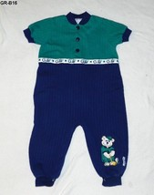 Healthtex Size 24 Mo. Golf Theme Green Blue Romper - $8.99