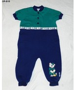 Healthtex Size 24 Mo. Golf Theme Green Blue Romper - $8.99