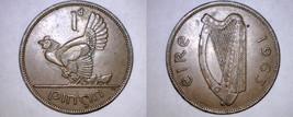 1963 Irish 1 Penny World Coin - Ireland - $6.99