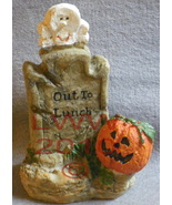Out to Lunch Table-top Tombstone Halloween pumpkin - $3.99