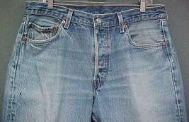 Vintage 501 Levi's Denim Blue Men's Tag Size 36x30   - $17.99