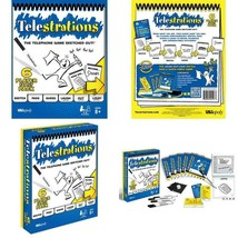 TELESTRATIONS ORIGINAL 6 PLAYER | FAMILY BOARD GAME | A FUN FAMILY GAME ... - $25.56