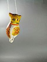 Filimonovskaya clay whistle Cat. Suspended. Handmade - $27.72