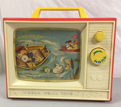 "Fisher Price Toys ""Giant Screen Music Box TV"" Plays Two Tunes 1964 - $27.71"
