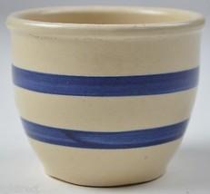"Robinson Ransbottom Williamsburg Pattern Blue Stipe Crock 3"" Tall Home D... - $14.99"