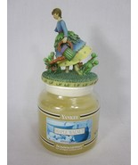 Yankee Candle Maple Walnut 14.5 oz with Gardening Woman topper - $19.79