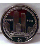 BVI NYC TWIN TOWERS 9-11 TRIBUTE 2002 $1 CUNI COIN UNC - $26.11