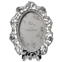 Blumenranke Vintage Metallisch Optik Oval Bilderrahmen 16cm X 22cm - $39.09