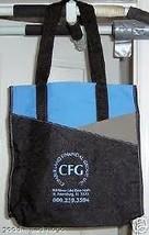CFG CUMBERLAND FINANCIAL GROUP LOGO CANVAS TOTE BAG NEW - $17.41