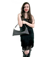 Carbotti Italian Designer Black Leather Handbag - $110.00