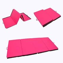 4'x6'x2 Folding Gymnastics Tumbling Mats Exercise Aerobics Stretching Yo... - $62.96