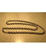 NECKLACE BEAUTIFUL 925 SILVER PLATED ROPE #863 - $19.99