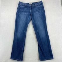 LEI Bridget Curvy Boot Denim Jeans Juniors 17 Long Blue Mid Rise Cotton ... - $18.95