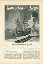 1933 Building a Ship Model of the Sovereign Running Rigging Modeling Nau... - $10.00