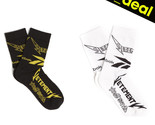 Vetements Socks Rebok Striped Long Unisex Black White Cotton Crew Stripe Size
