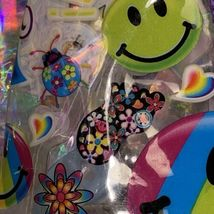 GUC VINTAGE Lisa Frank Mini Backpack Smiley Smilies Smile Faces Pattern Neon 90s image 4