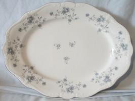 "Johann Haviland Bavaria Blue Garland Platinum Oval Platter 13"" - $24.64"