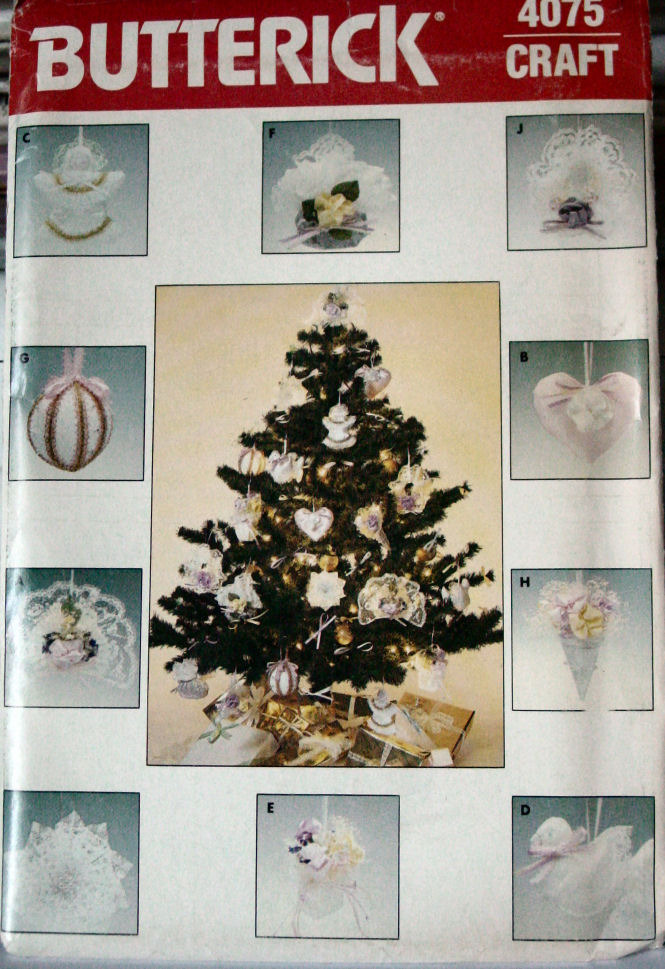 Primary image for Pattern 4075 Frilly, Fancy Christmas Ornaments