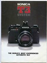 Konica Autoreflex T3 System Book 1979 Automatic SLR - $17.82