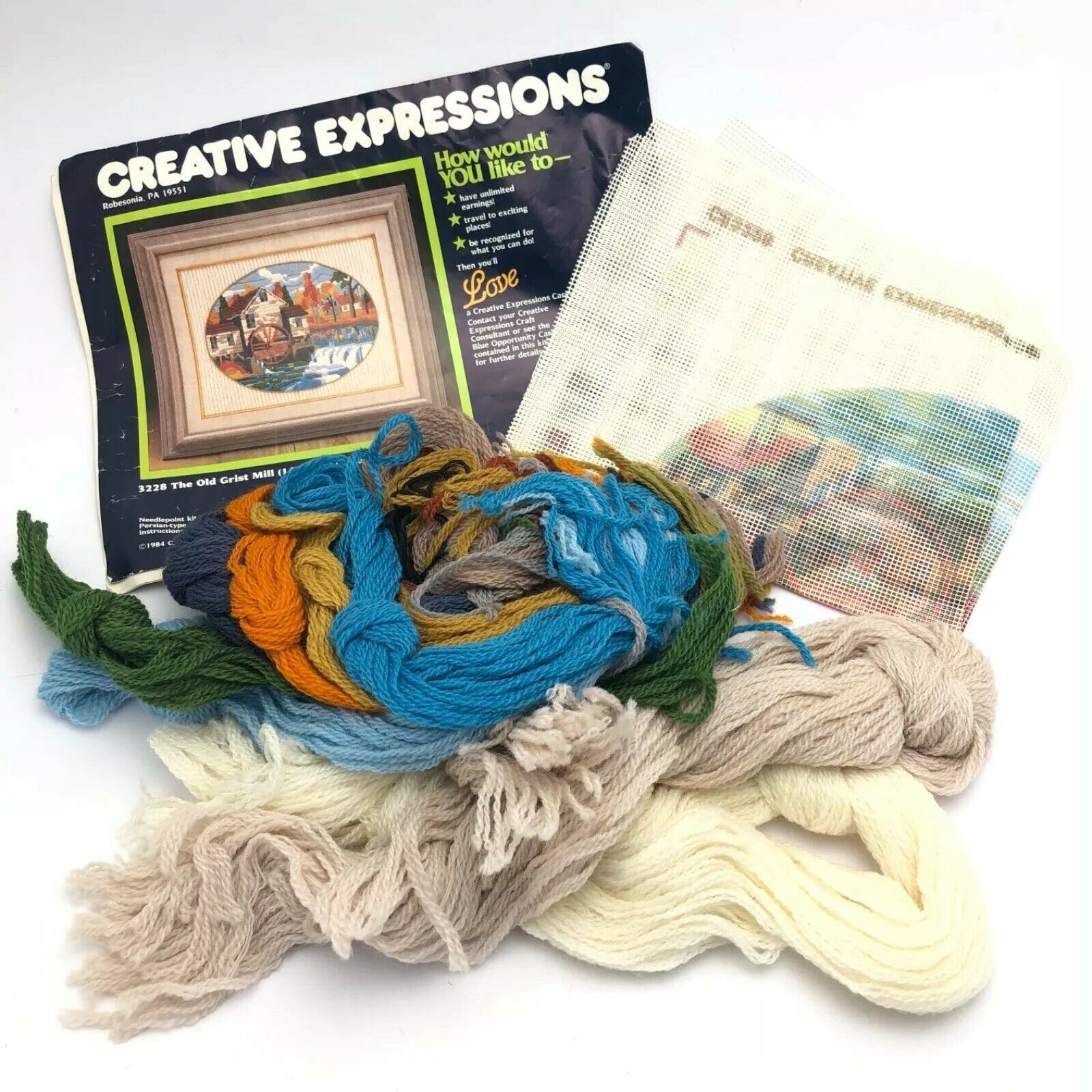 Primary image for Vintage Creative Expressions Needlepoint Kit - The Old Grist Mill - 1984
