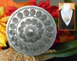 Vintage Danish Denmark Modernist John Rimer Copenhagen Shield Pendant - $28.95