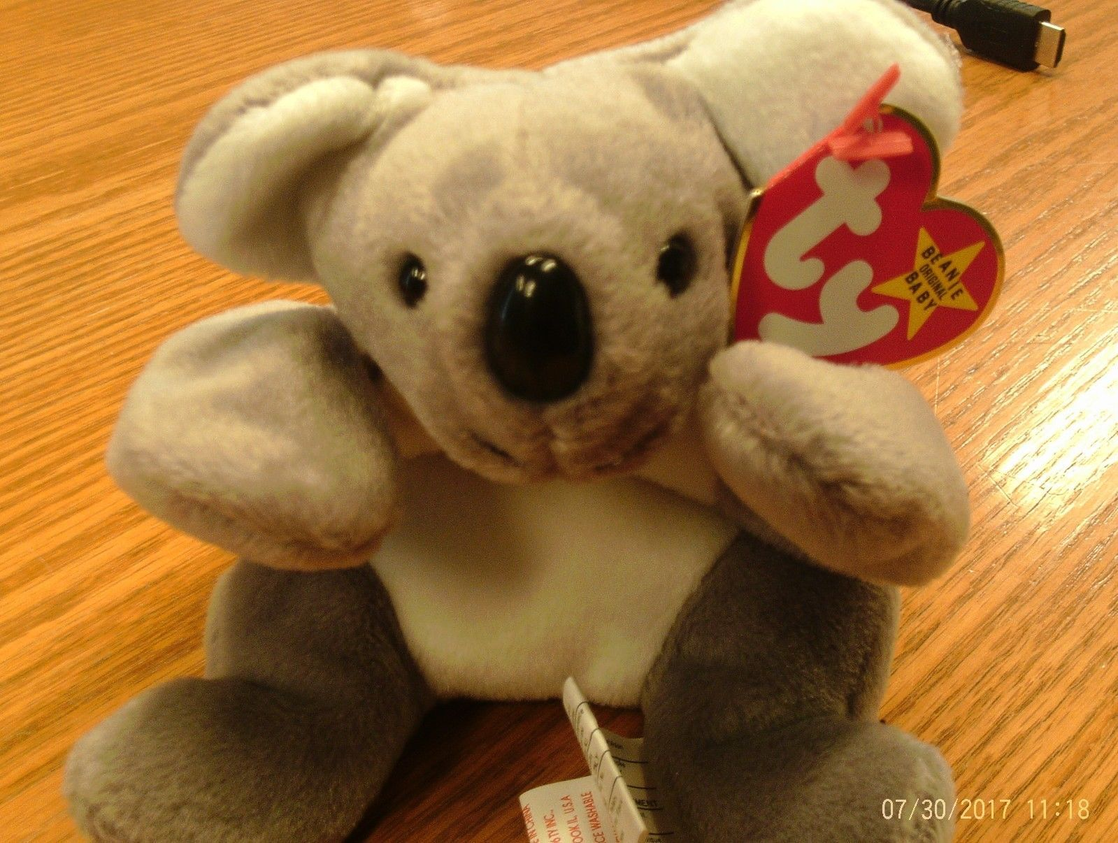 1st Edition Ty Beanie Babies Rare Mel the Koala Bear, double tush tag!