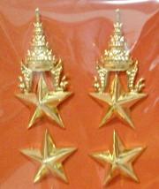 Lieutenant Colonel, Lt.Col. Rank Royal Thai Army Metal Badge RTA PIN - $23.24