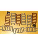 LEGO Parts lot of 9 Bar 7x3 w/Double Clips gray & brown - $19.99