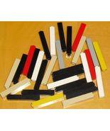 LEGO Parts lot of 30 brick column 1 x1 x5 mixed colors - $15.99