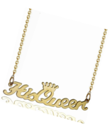 Name Necklace Initial Monogram Classic Baby New Mom Gift - $16.49